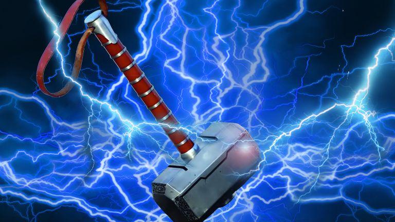 Thor hammer with lightning